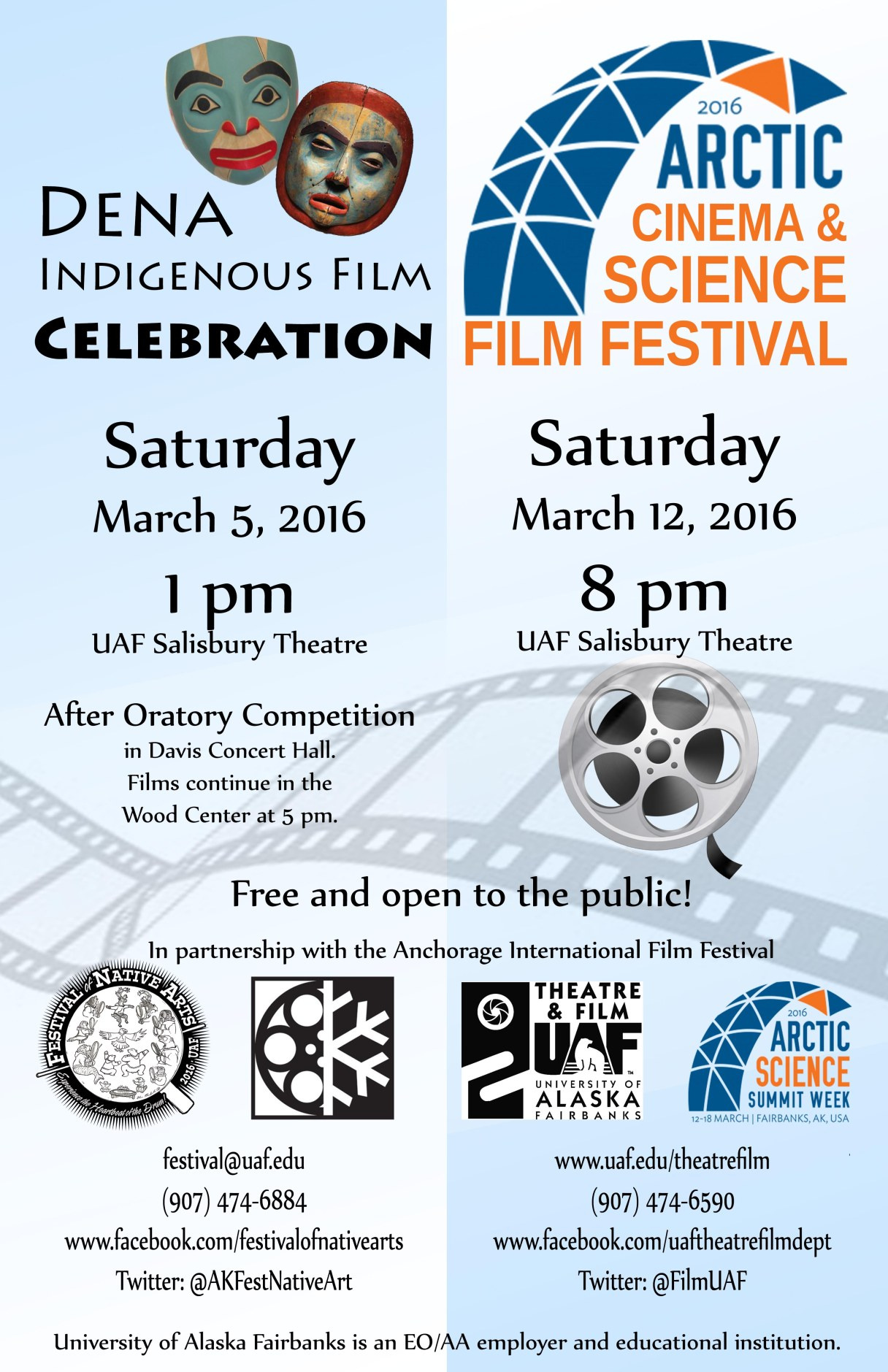 Dena Indigenous Film Celebration and Arctic Cinema and Science Film Festival