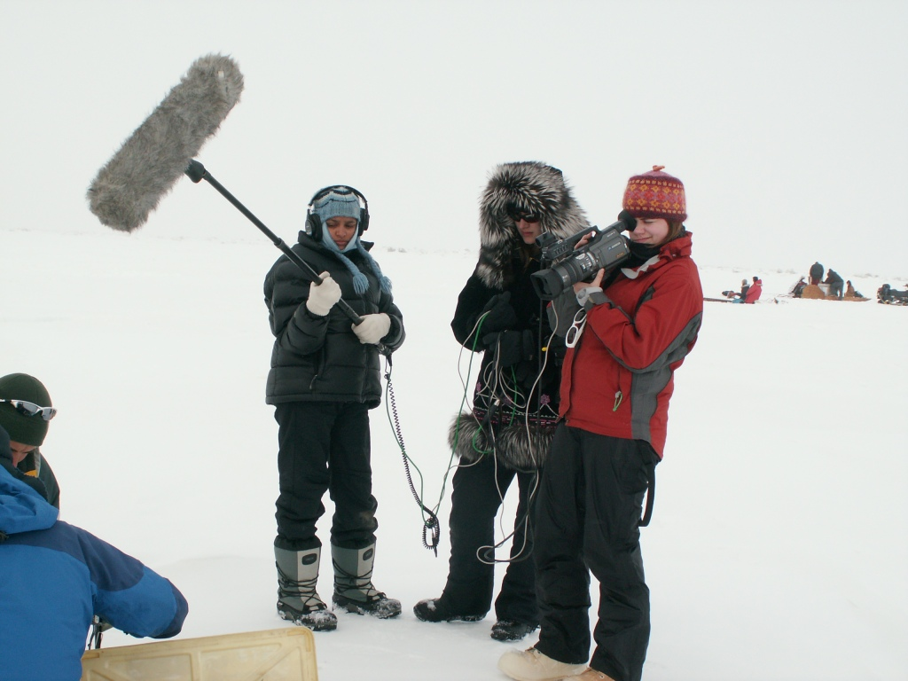 Students on Sea Ice Film Crew