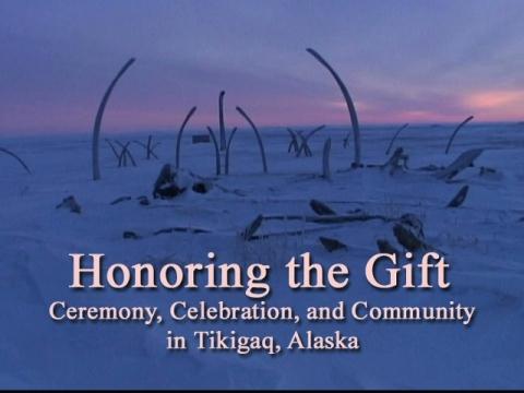 Whale jaw bones mark the festival grounds in Point Hope (Tikigaq) Alaska.