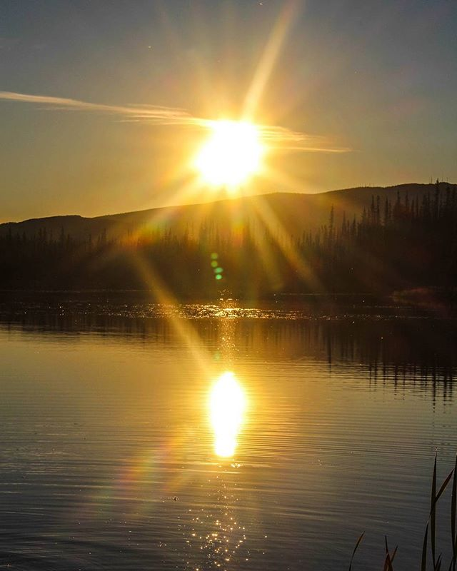 #alaska #sunset #lake #bodiesofwaterfilm #reflection